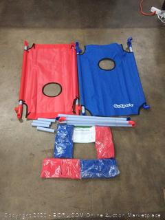 GoSports CH-04 Portable Cornhole Toss Game Set - Blue/Red