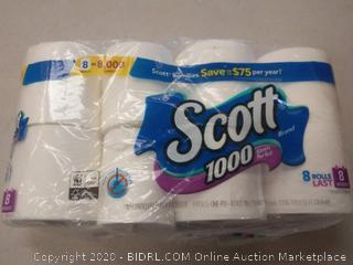 Scott toilet paper 8 rolls
