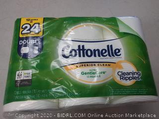 Cottonelle Ultra GentleCare Bath Tissue, 12 Double Rolls