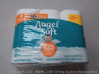 Angel Soft 9 Mega Toilet Paper Rolls