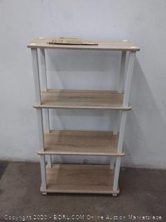 Furinno 4 tier shelf Walnut white tubing