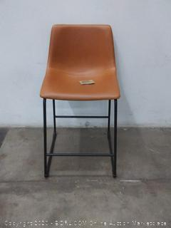 fuax leather brown bar stool