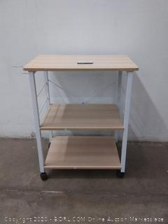 three tier kitchen baker's rack utility microwave stand( two chips on top shelf)
