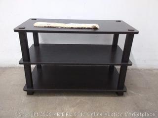 Furinno three tier tube shoe rack espresso black