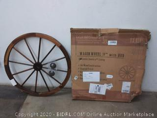 Leigh country Wagon Wheel 36in with hub