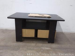 Furinno Coffee Table with Bin Drawer Espresso/Brown, 11158EX