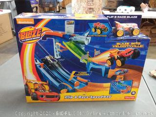 Fisher-Price Nickelodeon blaze flip and race Speedway ages 3 plus