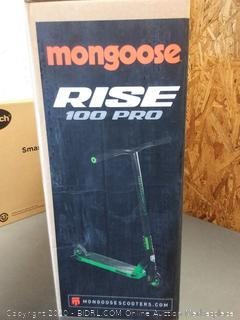 Mongoose Rise 100 Pro Freestyle Stunt Kick Scooter, Featuring