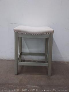 cream button bar stool