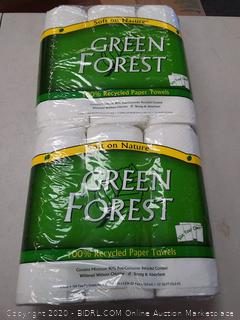 Green Forest Paper Towel 3 count (2 packs)