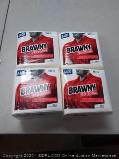 Brawny professional disposable cleaning towels 50 count (4 packs)