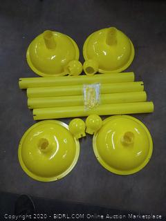 mr. chain heavy duty stanchion yellow 41 in height