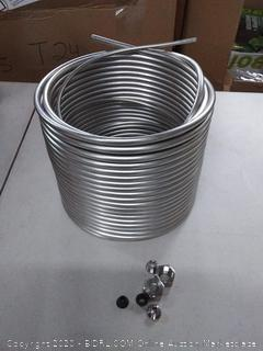 Front Kegco 120 ft stainless steel right hand coil