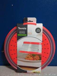 Tovolo Collapsible Microwave Food Cover Red