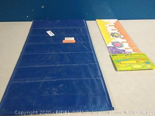 double sided pocket chart and mini bulletin board set bundle
