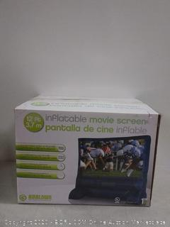 "Deluxe Airblown Movie Screen Inflatable with Storage Bag, 144"" Screen 12 FT TALL x 11.5 WIDE (online $99)"