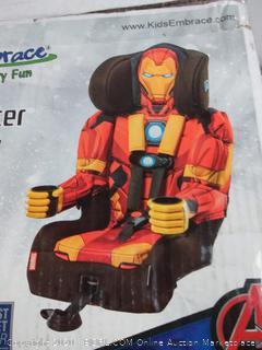 KidsEmbrace 2-in-1 Harness Booster Car Seat, Marvel Avengers Iron Man (online $99)