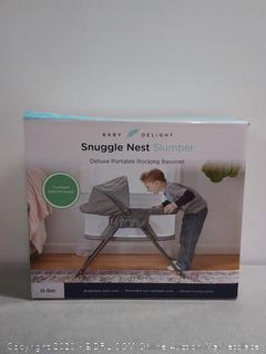 baby Delight snuggle Nest Slumber Deluxe portable rocking bassinet (online $119)