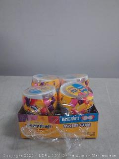 4-Pack Juicy Fruit Gum Mixies Fruity Chews Sugarfree
