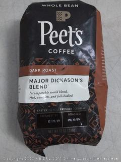 Peet's Coffee Major Dickason's Blend, Dark Roast Whole Bean Coffee, 12 Ounce Bag