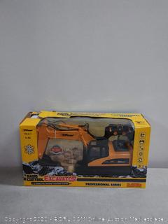 Top Race 15 Channel Full Functional Remote Control Excavator Construction Tractor, Excavator Toy with 2.4Ghz Transmitter and Metal Shovel (online $79)