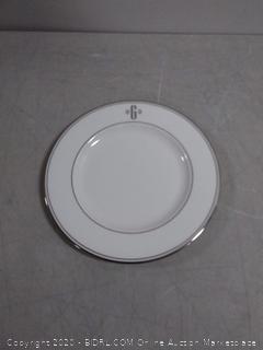 Lenox Federal Platinum block monogram dinnerware salad plate (online $27)