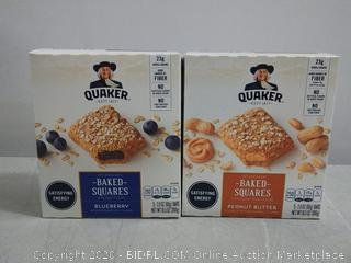 Quaker baked squares blueberry/peanut butter
