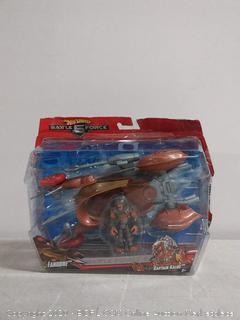 Hot Wheels Battle Force 5 captain Kalus with Fangore vehicle