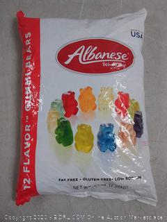 Albanese Gummy Bears 12 Flavor 5 Lb. Bag