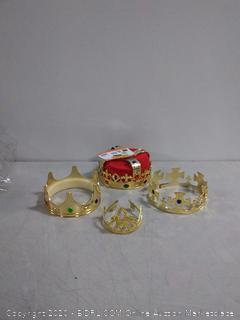 Tigerdoe Kings Crown - 4 Pack - Royal King Crowns