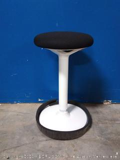 Standing Desk Chair, Standing Stool, Ergonomic Wobble Stool, 360° Swivel Balance Chair, Adjustable Height 23.6-33.5 Inches (online $135)
