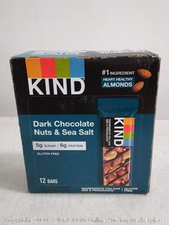 KIND dark chocolate nuts and sea salt protein bar, 12 bars