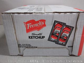 French's Tomato Ketchup Packets 9 gram 1000/Cs - Baumann Paper