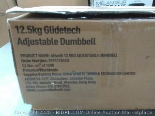 12.5 kg wide Tech adjustable dumbbell