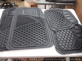 amazonbasics 4-Piece heavy duty floor mats black
