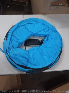 Houseables dog tunnel with carrying case blue