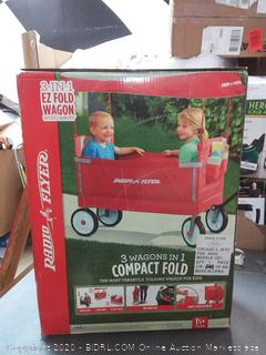 3 in 1 EZ fold wagon with canopy red