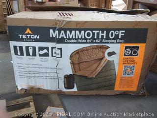 Teton Sports Mammoth 0 degree Farenheit double-wide 94 in x 62 in sleeping bag