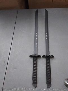 set of two ninja swords
