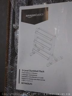 amazonbasics 3 level dumbbell rack