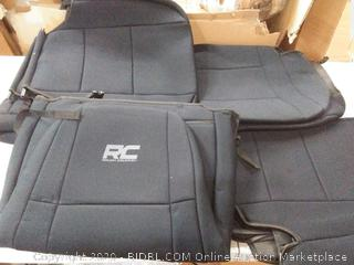 Rough Country Neoprene Seat Covers Front/Rear Black Fits 1987