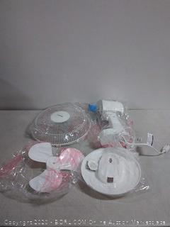 Hurricane Desk Fan - 12 Inch Classic Series Quiet Table Fan with 80 Degree Oscillation, 3 Speed Settings, Adjustable Tilt - ETL Listed, White