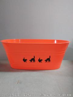 large oval orange party tub