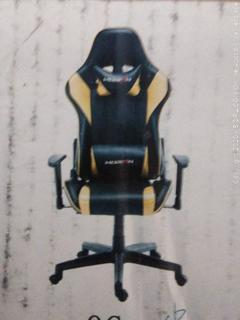 morfan gaming chair black and gold (online $116)