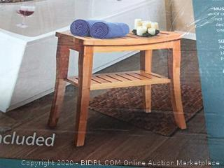 100% bamboo shower bench