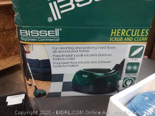 Bissell Big Green commercial Hercules scrub and clean hard floor surface cleaner (Powers On)