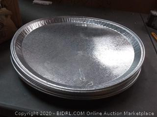 durable packaging International 16 in aluminum serving tray ten count
