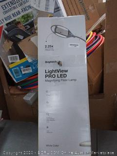Brightech: LightView Pro LED Magnifying Floor Lamp White
