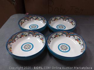 Zanzibar 4 Piece Pasta Bowl Set by Euro Ceramica Dinner Service