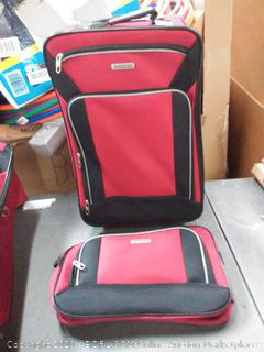 American tourister 21-inch upright and boarding bag(damage to frame of suitcase)